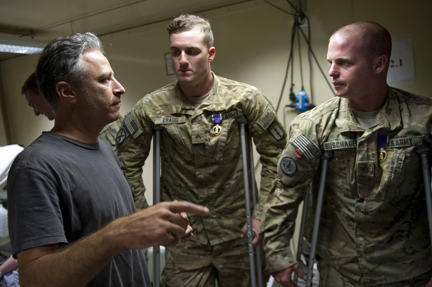 Surprise! Jon Stewart's weekend visit in Afghanistan boosts U.S. troop morale