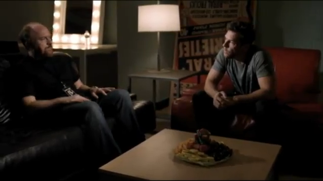 """Louis CK and Dane Cook finally meet mano-a-mano…on """"Louie"""""""