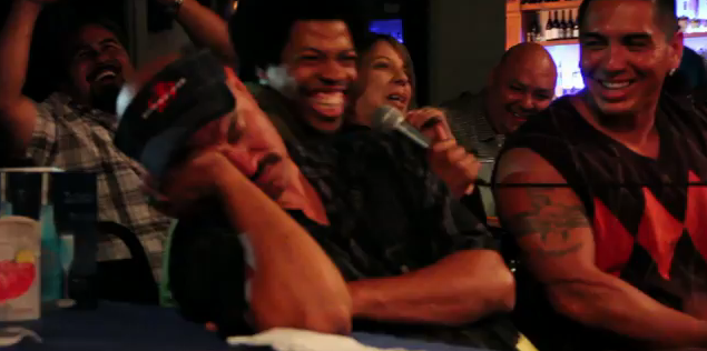 Don't be this guy who fell asleep during the live comedy show