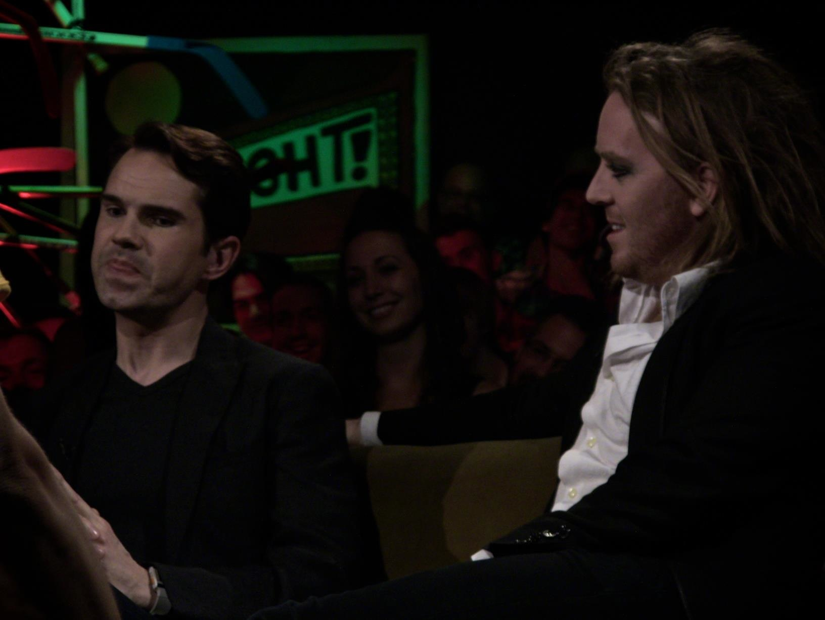 "Jimmy Carr explains his theory of how laughter is tied to evolution on ""The Green Room with Paul Provenza"""