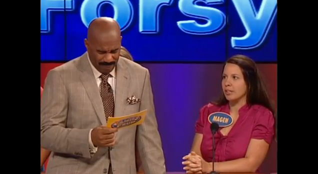 As seen on Family Feud: Pastor's wife says what she won't swallow
