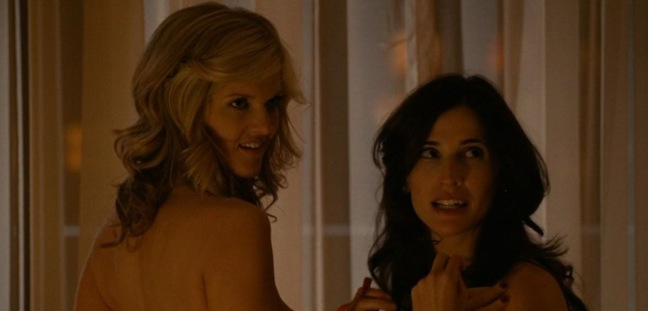 "This is the sexiest SFW photo from Michaela Watkins and Arden Myrin in HBO's ""Hung"""