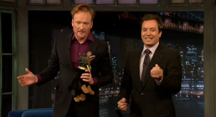 Conan O'Brien makes a cameo at Late Night with Jimmy Fallon