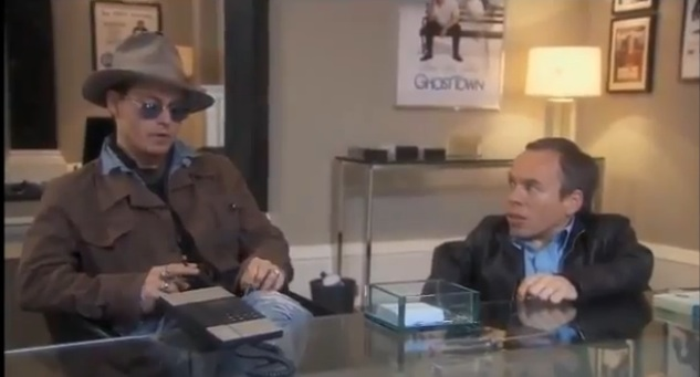 """Johnny Depp confronts Ricky Gervais on """"Life's Too Short"""""""