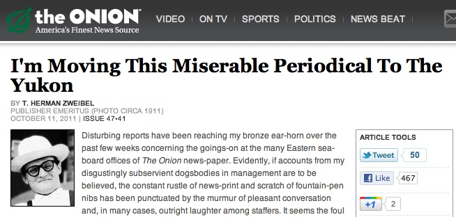 The Onion's publisher emeritus weighs in on proposed move to The Yukon (Chicago)