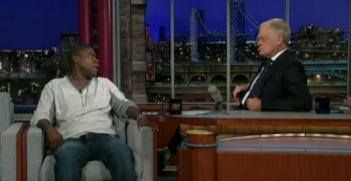 Tracy Morgan tries to explain his homophobic jokes to David Letterman