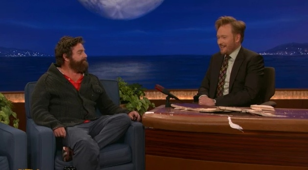 """Zach Galifianakis makes the late-night rounds for """"Puss in Boots"""""""