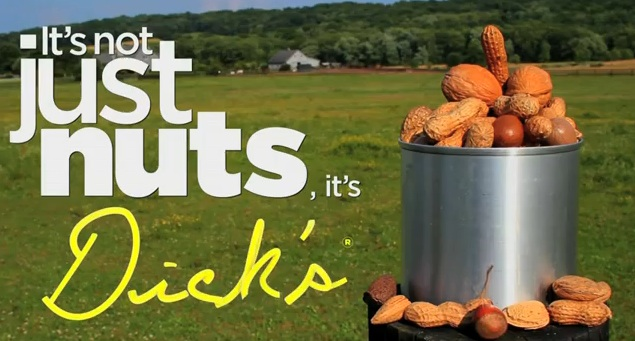 Whose nuts? Dick's Nuts. Real or fake, it's now a commercial