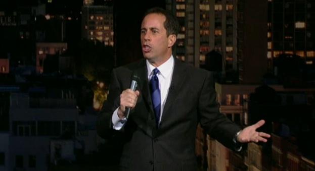 On Letterman, Jerry Seinfeld ponders phone technology, boner pills