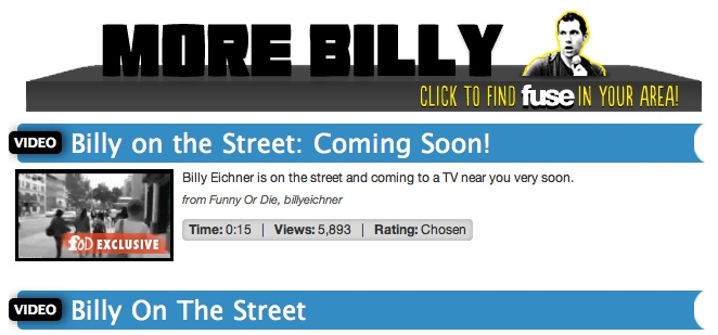 """Millions to miss out on Funny or Die's """"Billy on the Street"""" due to Time Warner Cable spat with MSG"""