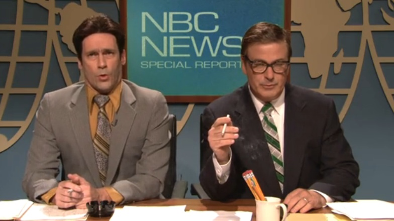 Watch and compare the two different live episodes of 30 Rock, 2012 edition