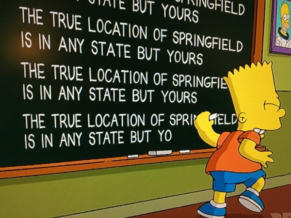 "This is the Springfield where ""The Simpsons"" live"