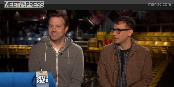 SNL's Fred Armisen, Jason Sudeikis talk playing Obama, Romney and Biden