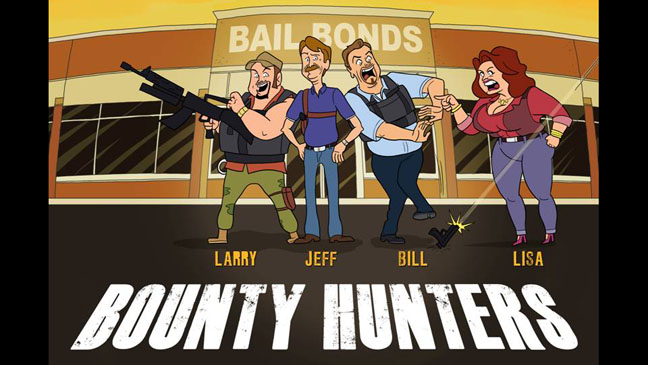 "CMT orders animated ""Bounty Hunters,"" starring Larry the Cable Guy, Jeff Foxworthy, Bill Engvall and Lisa Lampanelli"