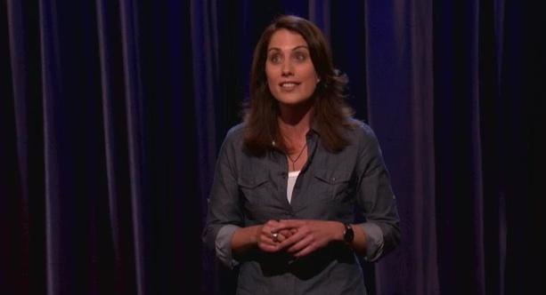 Erin Foley's late-night TV debut on Conan