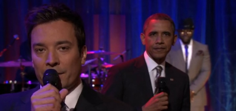 President Obama gives props to Key & Peele, slow jams the news with Jimmy Fallon
