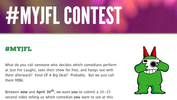 Your chance to help schedule Montreal's Just For Laughs in 2012