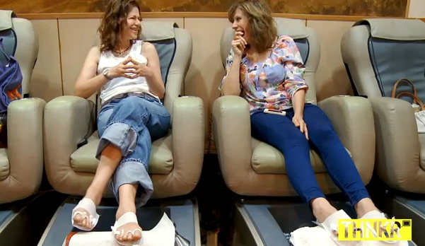 "Sandra Bernhard and Lizz Winstead in ""Comedians Walking & Getting Mani-Pedis"""