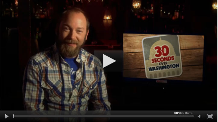 "Kyle Kinane looks at campaign ads in ""30 Seconds Over Washington"""
