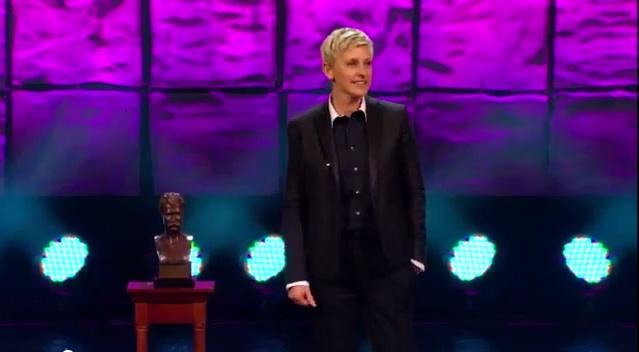 Watch Ellen DeGeneres win the 2012 Mark Twain Prize for American Humor