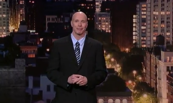 Brian Kiley jokes about his new look, on Late Show with David Letterman