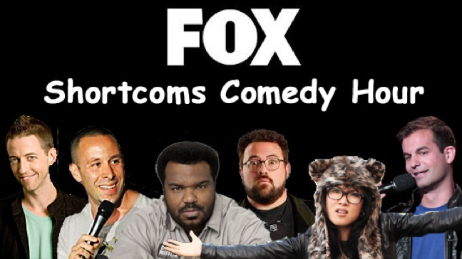 "Neal Brennan, Dov Davidoff, Michael Kosta, Kevin Smith and Ali Wong taping FOX ""Shortcoms"""