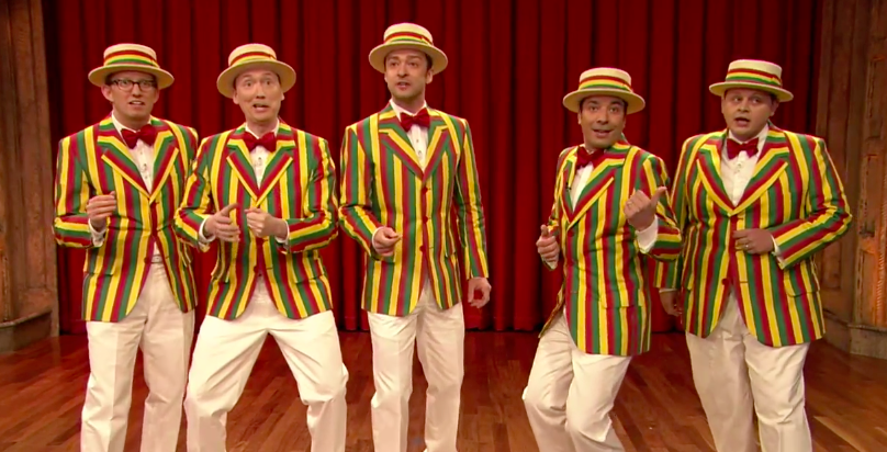 "Bringing Barbershop Back: Comedian Tom Shillue Sings with ""The Ragtime Gals"" on Late Night with Jimmy Fallon"