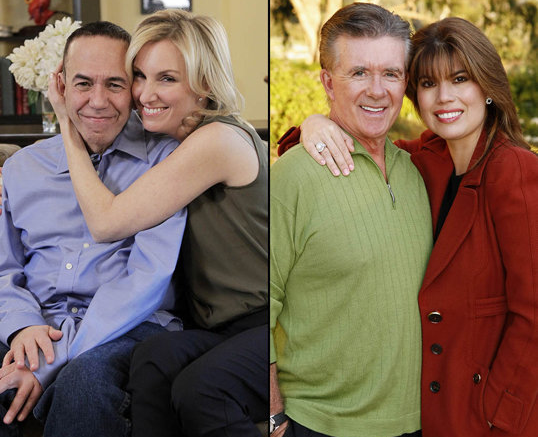 "Gilbert Gottfried and Alan Thicke swapped wives on ABC's ""Celebrity Wife Swap"""