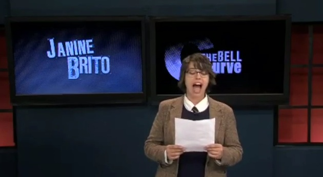 "Previously unreleased clip from the ""Totally Biased"" pilot presentation: Janine Brito apologizes as Tracy Morgan"