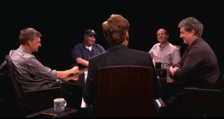 """Conan O'Brien reunites with The Simpsons writers for some """"Serious Jibber-Jabber"""""""