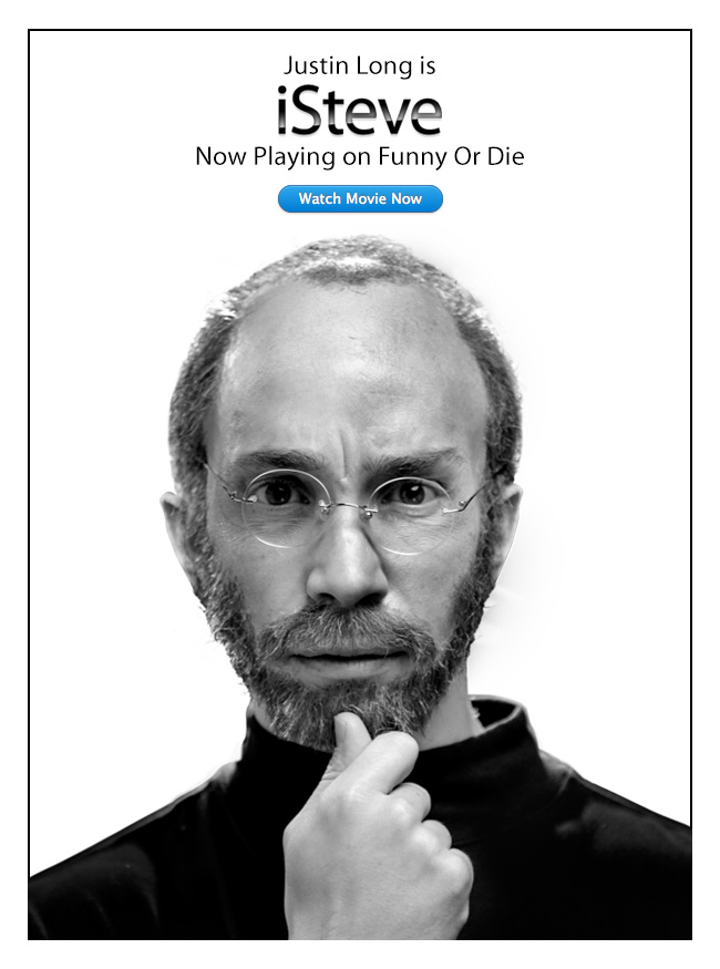 """""""iSteve,"""" the first Funny or Die movie, and first Steve Jobs biopic"""