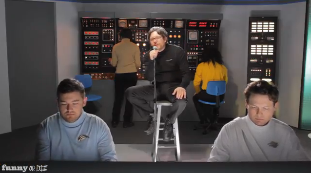 "James Adomian as Marc Maron in IFC/Funny or Die webseries, ""Maron in Space"""