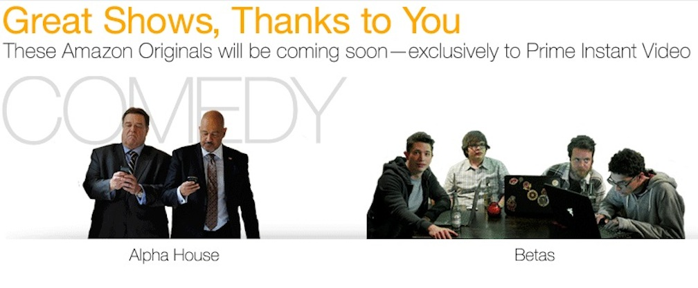 """Amazon orders up series for sitcoms """"Alpha House"""" and """"Betas"""""""