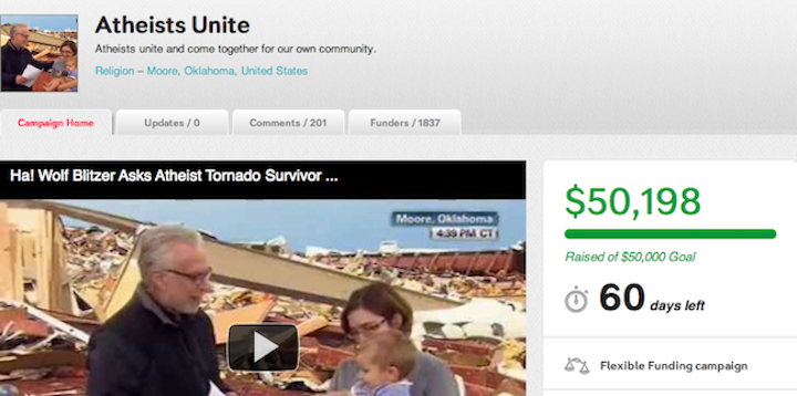 Doug Stanhope raises $100,000 for atheist survivor of Oklahoma tornado