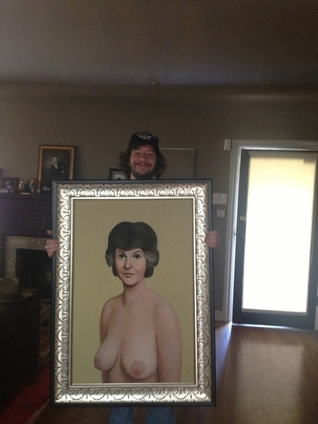 Jimmy Kimmel's priceless gift to Jeffrey Ross: A painting of the late Bea Arthur, topless