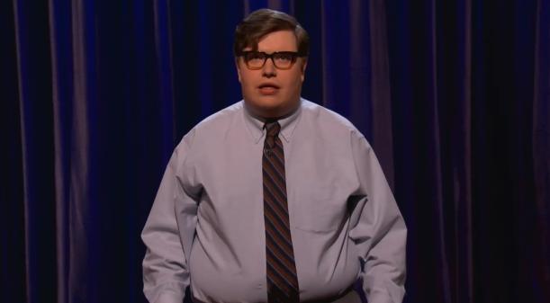 Erik Charles Nielsen's stand-up TV debut on Conan