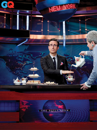 John Oliver's first episode as guest host of The Daily Show with Jon Stewart
