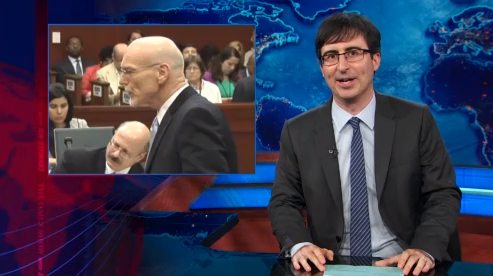 """On """"The Daily Show,"""" John Oliver deconstructs George Zimmerman's lawyer's joke to open Trayvon Martin murder trial"""