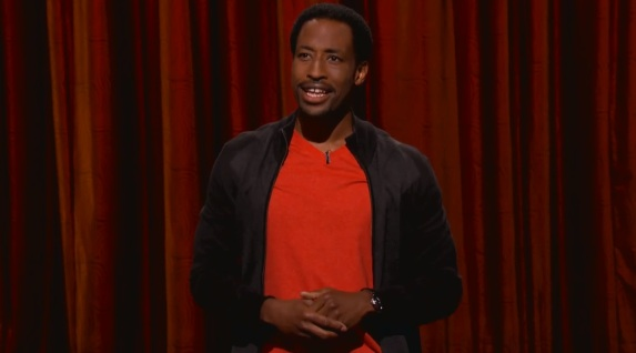 On Conan, Dwayne Perkins yearns for the time before cell phones, Facebook