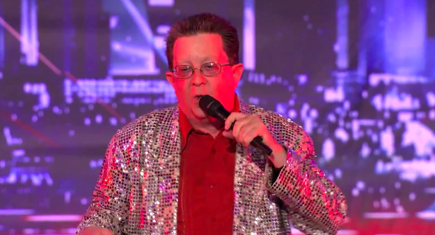 Perry Kurtz auditions for America's Got Talent as a rapping ex-stripper