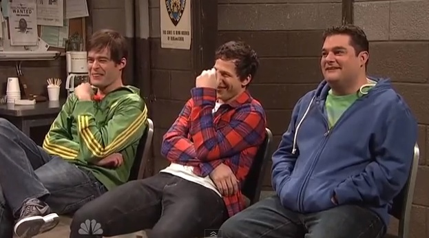 Supercut of SNL actors breaking character