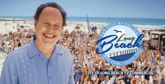 Billy Crystal boosts tourism for his hometown of Long Beach, New York, the summer after Hurricane Sandy