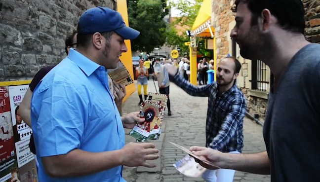 Watch wrestler/comedian Colt Cabana navigate the #EdFringe gauntlet