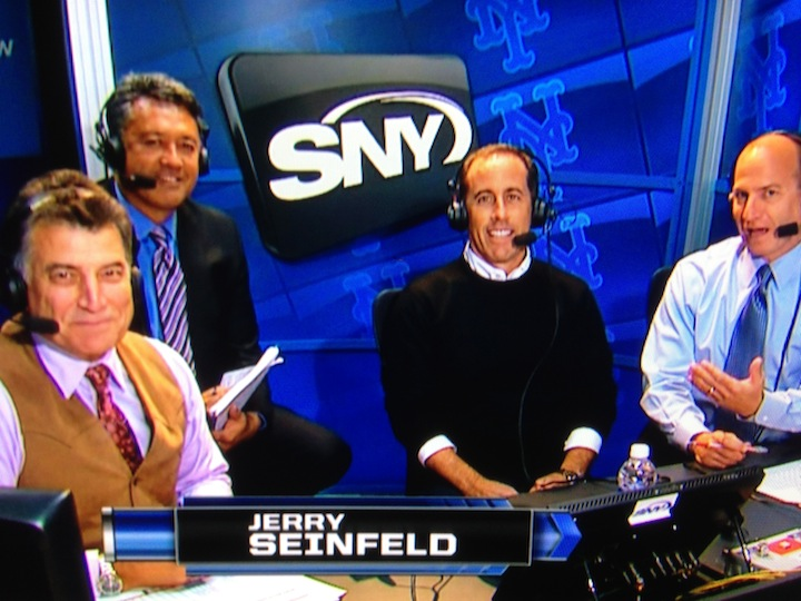 """Mets fan Jerry Seinfeld in the SNY booth at Citi Field, on """"Comedians In Cars Getting Coffee,"""" Keith Hernandez's """"Seinfeld"""" episode and more"""