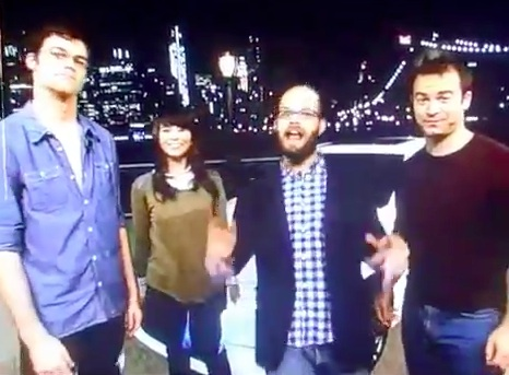 NYC improv groups performing late-night commercial spots for Lexus LIVE during Late Night with Jimmy Fallon