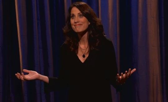Erin Foley, now gluten-free, on Conan