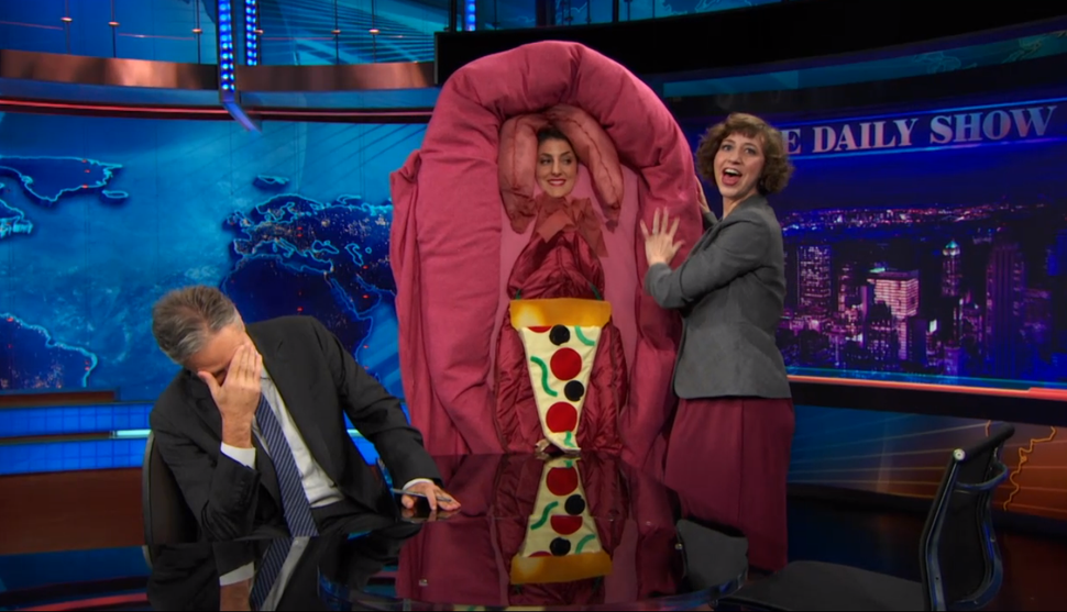 """Bid to win the """"Sexy Vagina"""" Halloween costume from The Daily Show. It's for Charity. Whomever she is."""