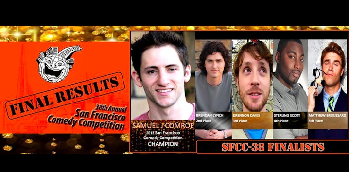 Samuel J. Comroe wins 2013 San Francisco Comedy Competition