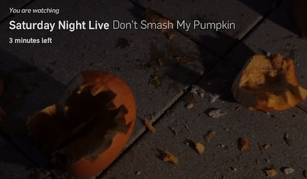 "Deleted scene: Taran Killam's ""Don't Smash My Pumpkin"" music video for SNL"