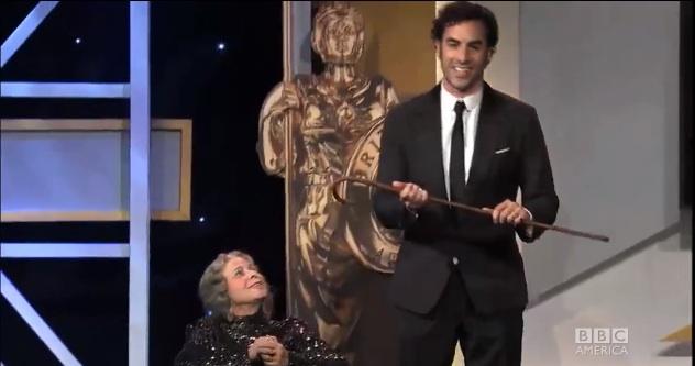 Sacha Baron Cohen kills with 2013 BAFTA Britannia Awards prank